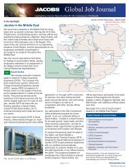 Jacobs in the  Middle East - Jacobs Engineering