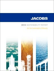 Jacobs 2010 Sustainability Report - Jacobs Engineering