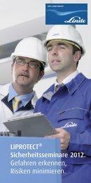 Flyer LIPROTECT® Sicherheitsseminare - Linde Gas