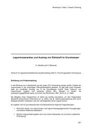 Leguminosenanbau und Austrag von Stickstoff im Grundwasser