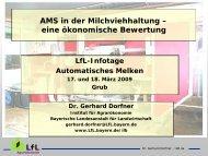 AMS in der Milchviehhaltung - Bayerische Landesanstalt für ...