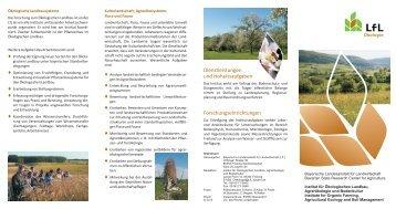 Flyer des Instituts für Ökologischen Landbau, Agrarökologie und