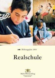 Bildungsplan Realschule - Bildung stärkt Menschen