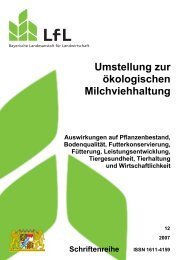 Umstellung zur ökologischen Milchviehhaltung - Bayerische ...