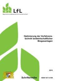 Schriftenreihe - Bayerische Landesanstalt für Landwirtschaft - Bayern