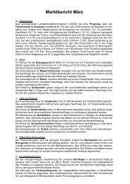 Marktbericht März 2009 - Bayern