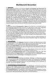 Marktbericht November 2012 - Bayern