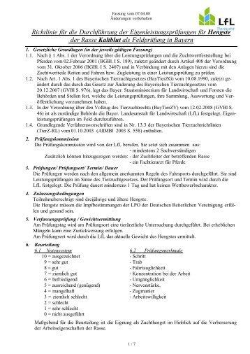 Richtlinie für die Durchführung der Eigenleistungsprüfungen für ...