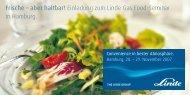 Frische – aber haltbar! Einladung zum  Linde Gas Food-Seminar in ...