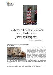 Les festes d'hivern a Barcelona amb ulls de turista