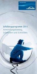 Schulungsprogramm 2011. Anwendungstraining ... - Linde Gas