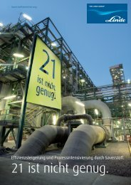 Broschüre Sauerstoffanreicherung (PDF 3.63 MB) - Linde Gas