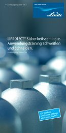 Seminarbroschüre 2013 (PDF 3.51 MB) - Linde Gas