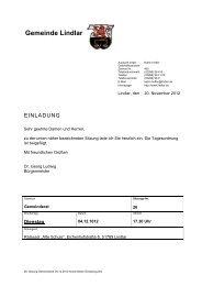 2012.12.04 26. Sitzung Gemeinderat - Einladung - Gemeinde Lindlar