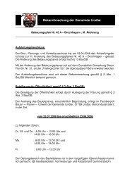 BP Nr. 45 A Brochhagen, III. Änderung - Gemeinde Lindlar
