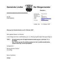 ersetzen Sie diesen Text durch Ihren Dateinamen - Gemeinde Lindlar
