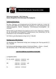 FNP, LXIII. Änd, Bereich Berg. Freilichtmuseum ... -  Gemeinde Lindlar
