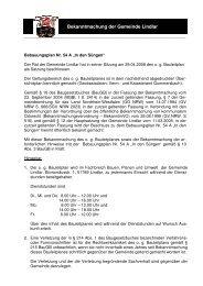 Bekanntmachung vom 08.09.2008 BP Nr. 54 A ... - Gemeinde Lindlar