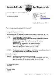 2012.12.04 26. Sitzung Gemeinderat - 2 ... - Gemeinde Lindlar