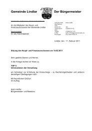 2011.02.15 10. Sitzung Haupt- und ... - Gemeinde Lindlar