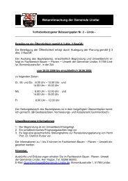 Bekanntmachung vom 06.05.2008 zum BP Nr. 2 ... - Gemeinde Lindlar