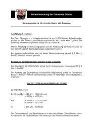 BP Nr. 48 - Lindlar West -, VIII. Änderung - Gemeinde Lindlar