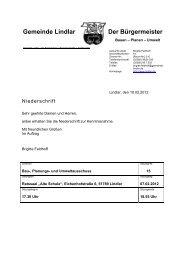2012.02.07 15. Sitzung Bau-, Planungs- und ... - Gemeinde Lindlar