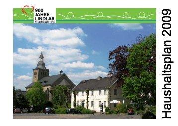 Haushaltssatzung - Gemeinde Lindlar