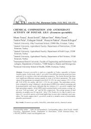 CHEMICAL COMPOSITION AND ANTIOXIDANT ACTIVITY OF ...