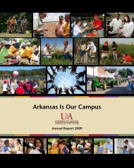 University of Arkansas Division of Agriculture Annual Report - 2009