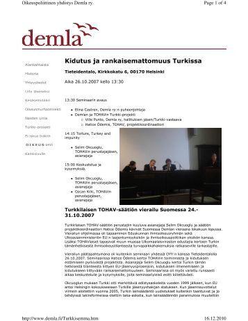 Kidutus ja rankaisemattomuus Turkissa - Oikeuspoliittinen yhdistys ...