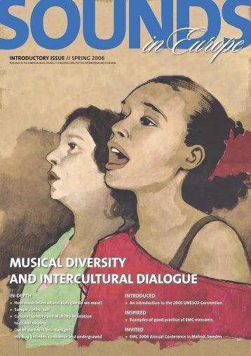 musical diversity and intercultural dialogue - European Music Council