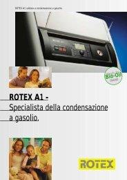 ROTEX A1 - Specialista della condensazione a ... - Esedra ENERGIA