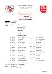 Spielplan Hallenkreismeisterschaft - Kreis 17 - Iserlohn