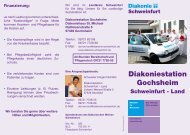 Diakoniestation Gochsheim - Diakonie Schweinfurt