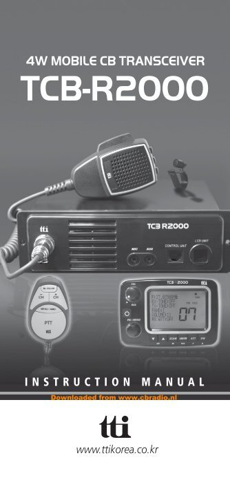 www.cbradio.nl: Manual TTI TCB R2000 (ENG)