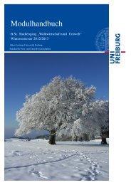 Modulhandbuch - Fakultät für Forst - Universität Freiburg