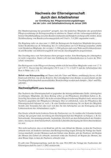 Nachweis der Elternschaft.pmd - Lehnen & Partner ...