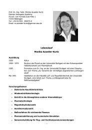 Lebenslauf Monika Auweter-Kurtz - ASA – German Aerospace ...