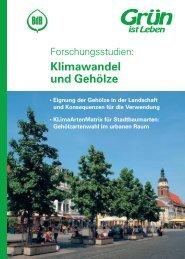 Klimawandel und Gehölze - Bund deutscher Baumschulen e.V.