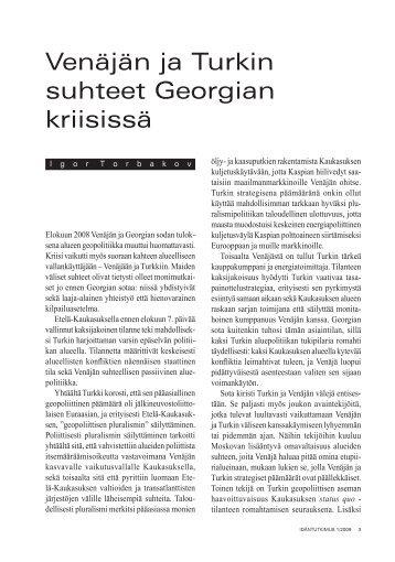 Venäjän ja Turkin suhteet Georgian kriisissä - Helsinki.fi