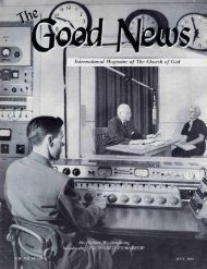 Good News 1963 (Vol XII No 07) Jul - Herbert W. Armstrong Library ...