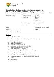Protokoll der Rechnungs-Gemeindeversammlung von ... - Günsberg