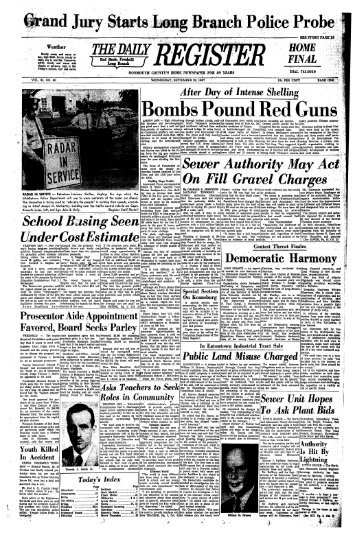 Bombs Pound Red Guns - Red Bank Register Archive
