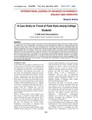 A Case Study on Trend of Food Style among College Students - ijapbc