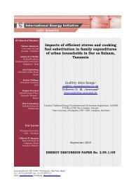 Impacts of efficient stoves and cooking fuel substitution in ... - Iei-la.org