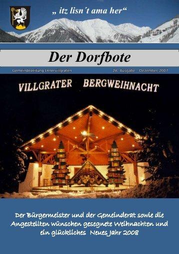 Dorfbote 28-2007 - Gemeinde Innervillgraten