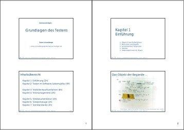 Grundlagen des Testens Kapitel 1 Einführung - ISTE