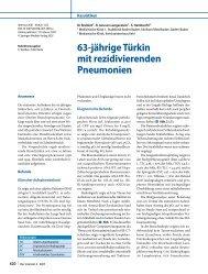 63-jährige Türkin mit rezidivierenden Pneumonien