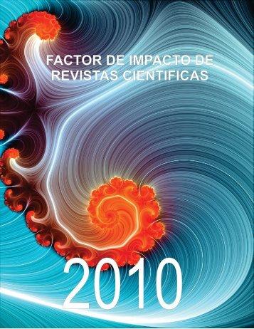 FACTOR DE IMPACTO DE REVISTAS CIENTIFICAS
